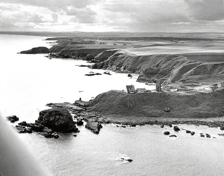 1977: This view from '70s shows the castle ruins' windswept clifftop location.