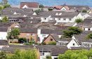 A housing estate in Elgin, Moray.    Property prices in Moray.  Picture by Gordon Lennox 28/07/2015      House Houses roofs roof top rooftop estate view