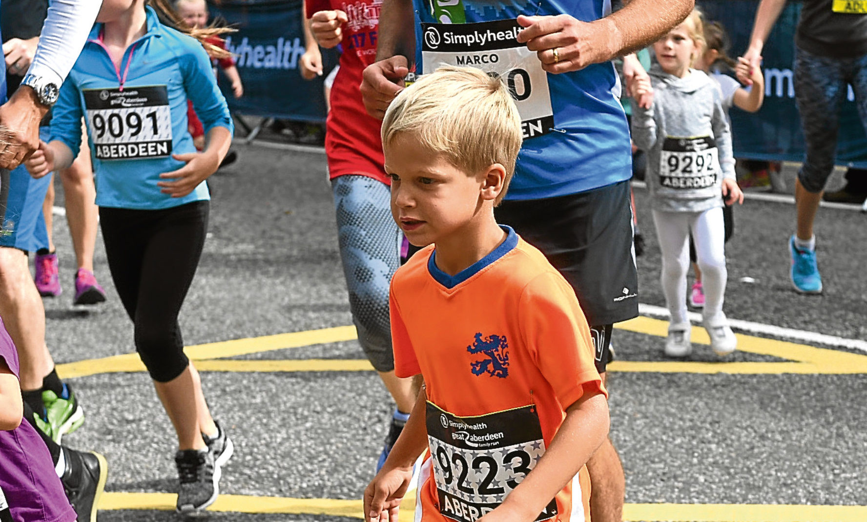 The popular running event includes a family run