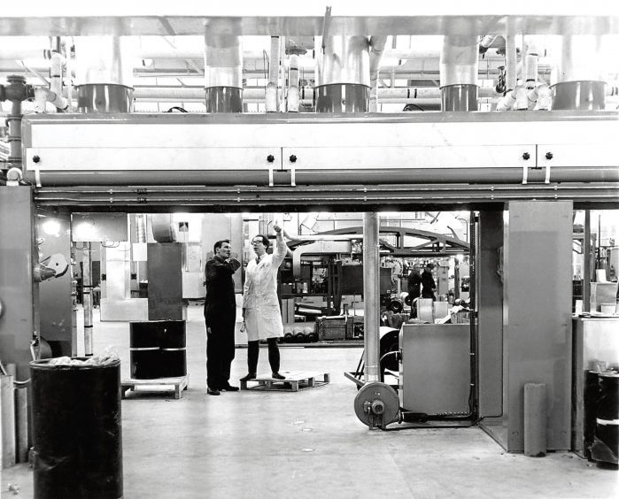 1967: The Caribonum carbon paper making plant at Turriff was 'a big fillip to the town'.