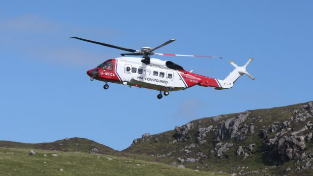 "The Coastguard's ""excellent flying"" during the rescue was praised"