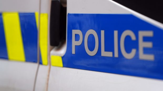 Police attended a two-vehicle collision in Aberdeen this afternoon