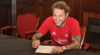 Stevie May signing on at Pittodrie.