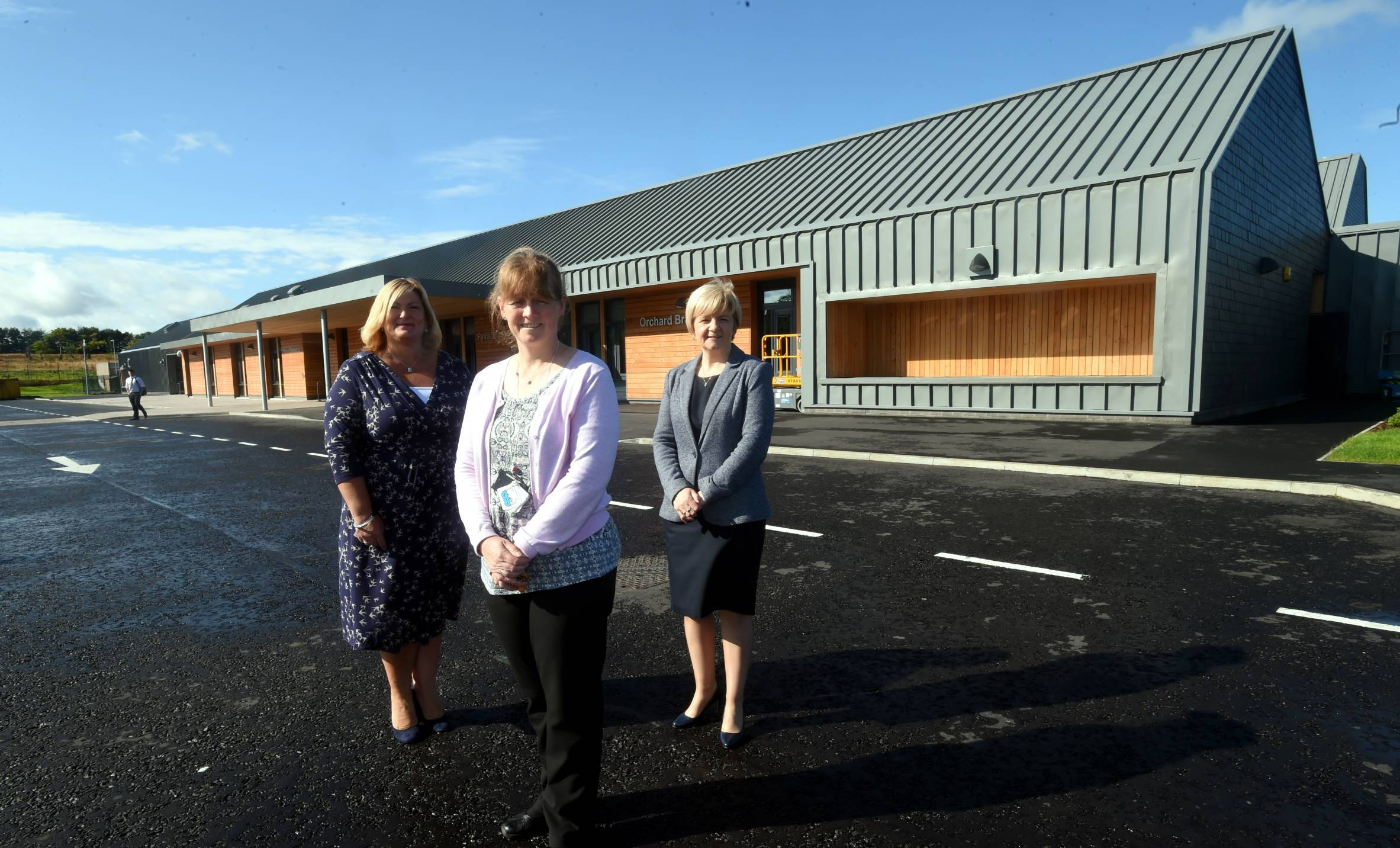 Director of education and children's services Gayle Gorman, executive head teacher of Orchard Brae School,Caroline Stirton and Aberdeen City Council leader Jenny Laing.