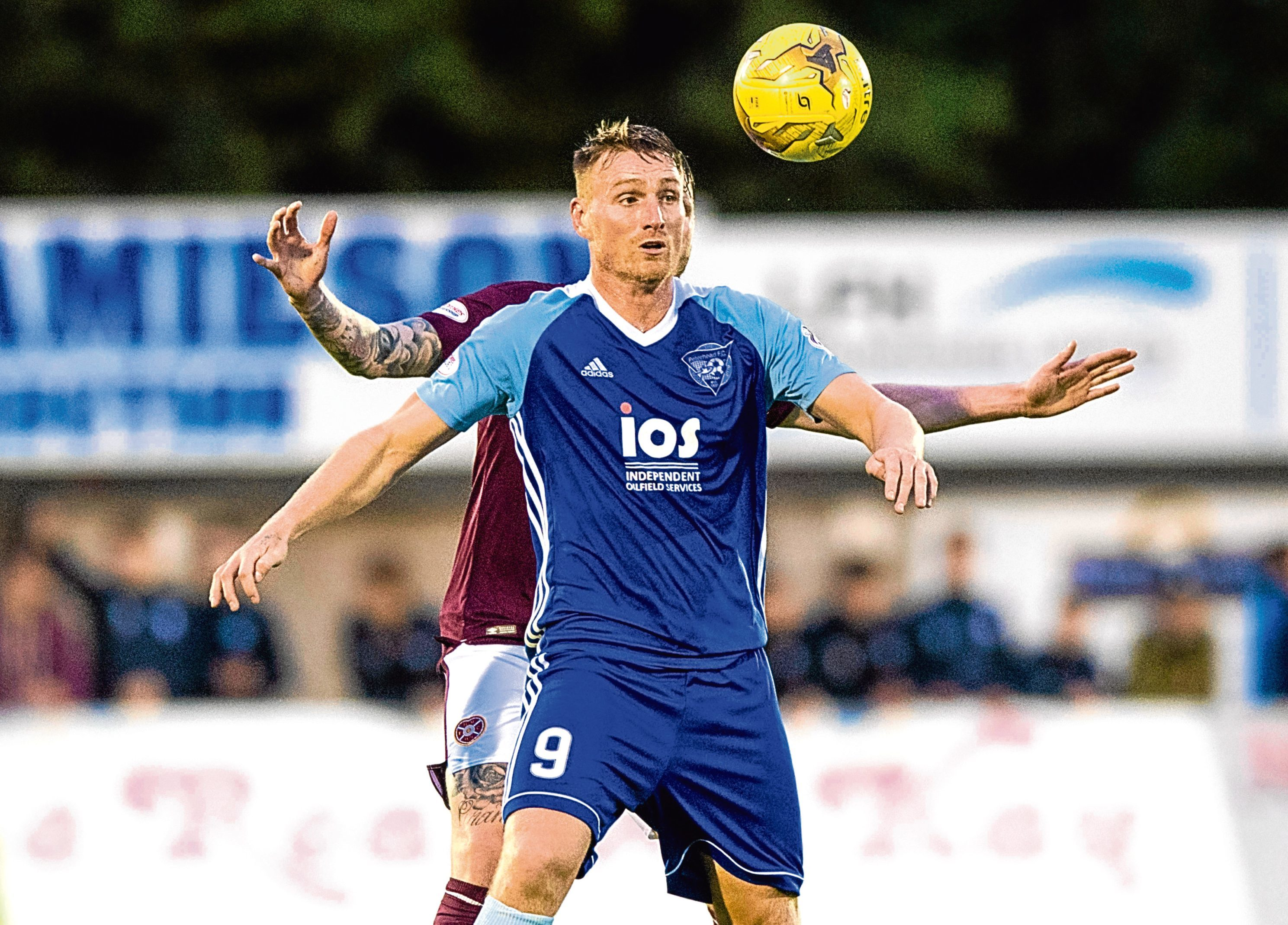 Rory McAllister in action for Peterhead.