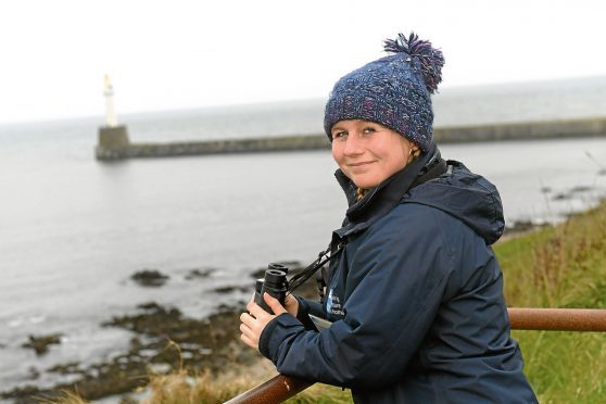 The Dolphinwatch team spotted the three whales off the coast of Aberdeen