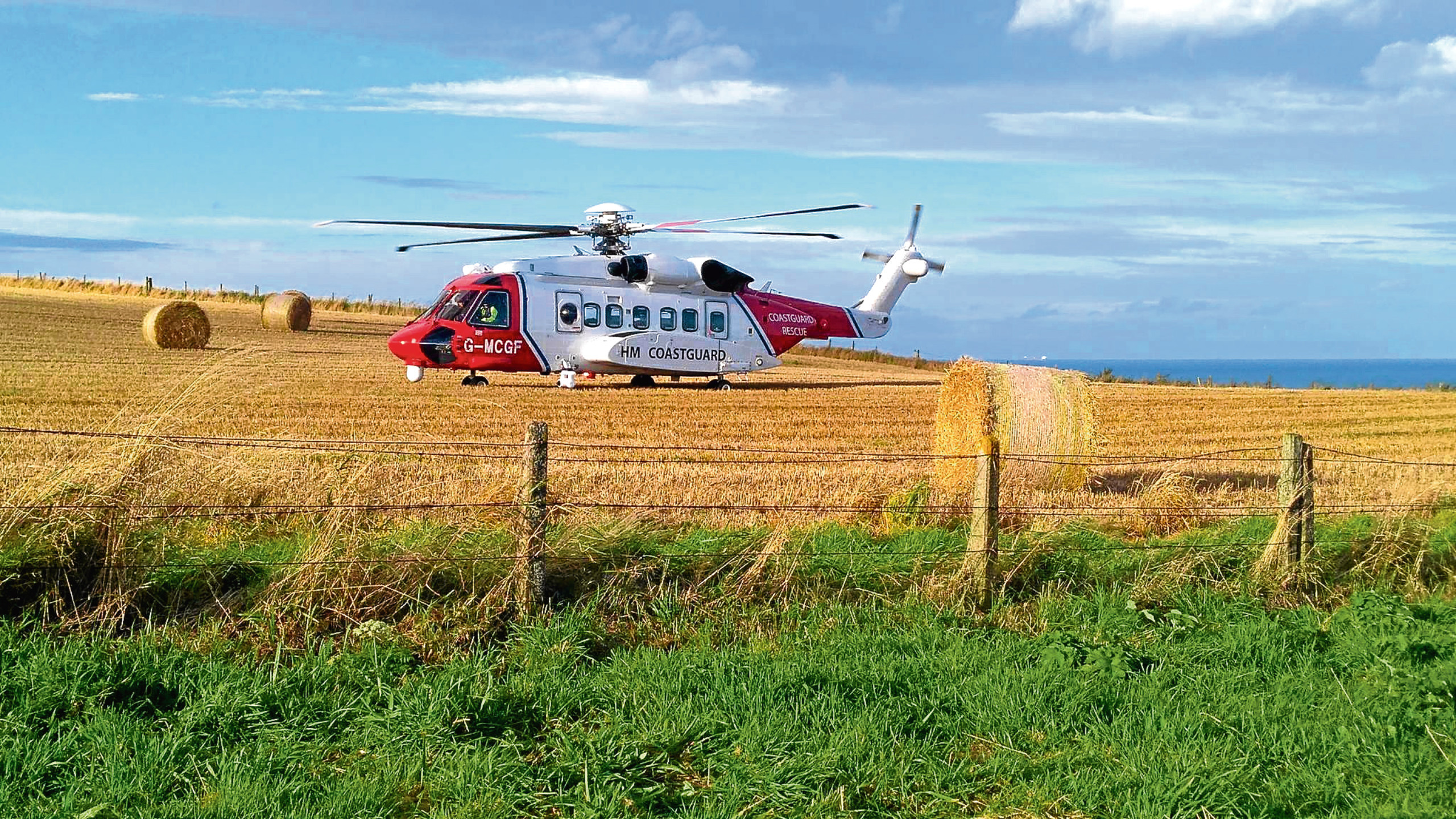 Coastguard crews were called after a man fell at Dunnottar Castle. picture submitted 11/09/2017