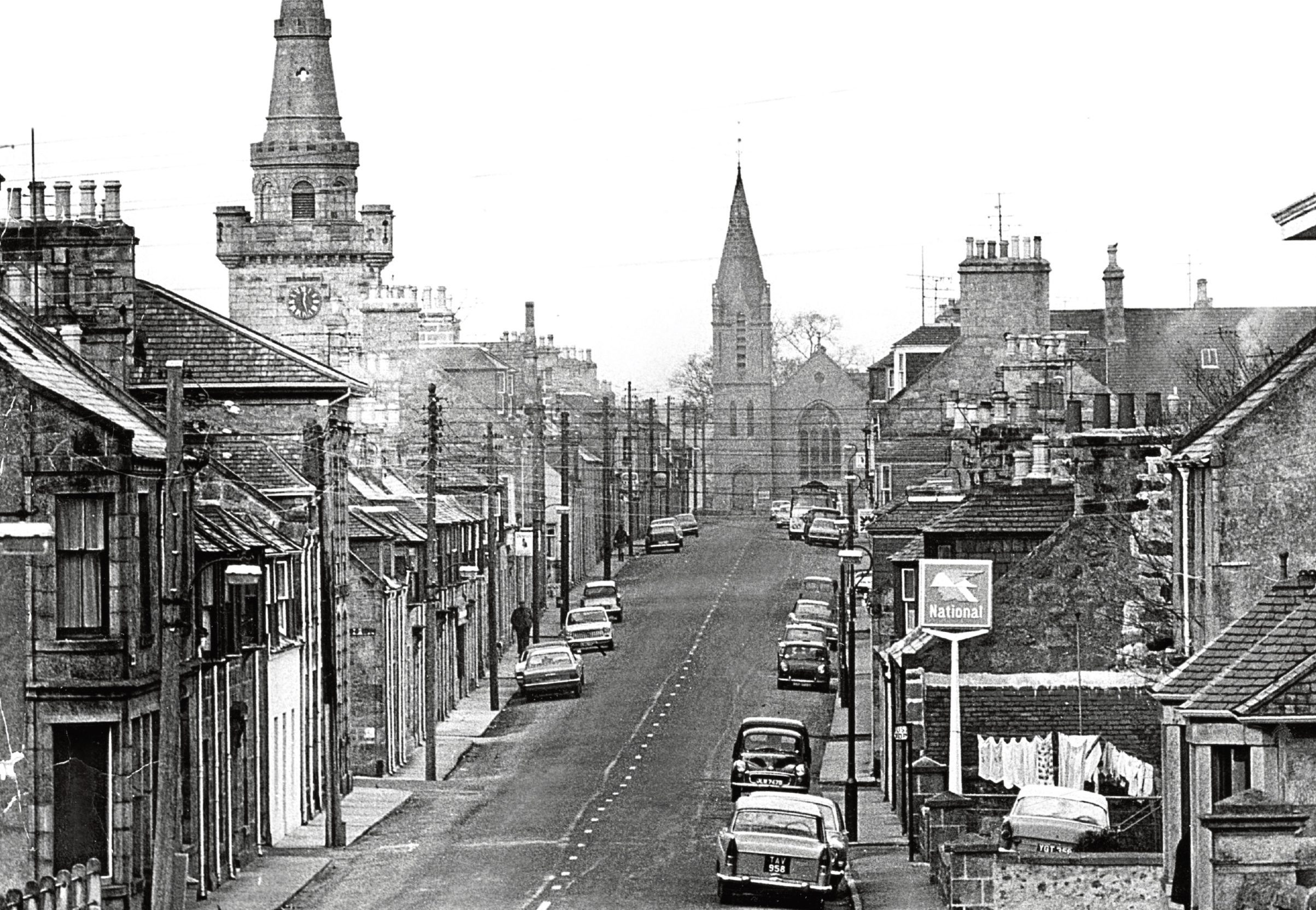 1969: The High Street of Strichen as it was almost 50 years ago.