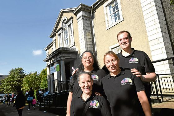 Pictured are from left, organisers of the 75th Anniversary of the Powis Community Centre, Jackie Main, Liza Topal (Chairperson), Fiona Lindsay and David Massie (Vice Chair). Picture by DARRELL BENNS     Pictured on 23/09/2017