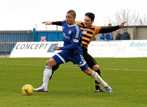 Leighton McIntosh playing for Peterhead