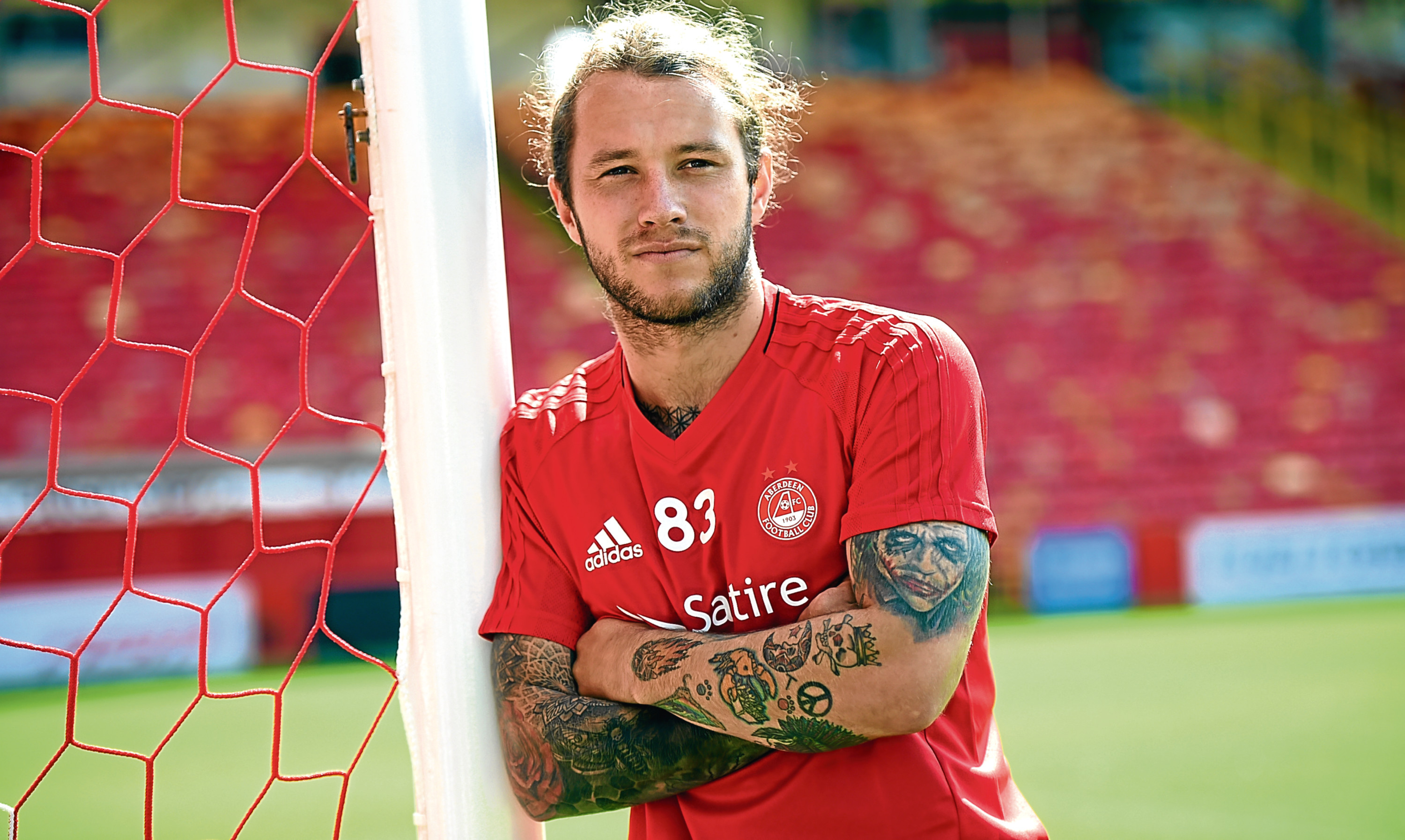 Striker Stevie May came in for his first Aberdeen start since mid December having recovered from an ankle injury.