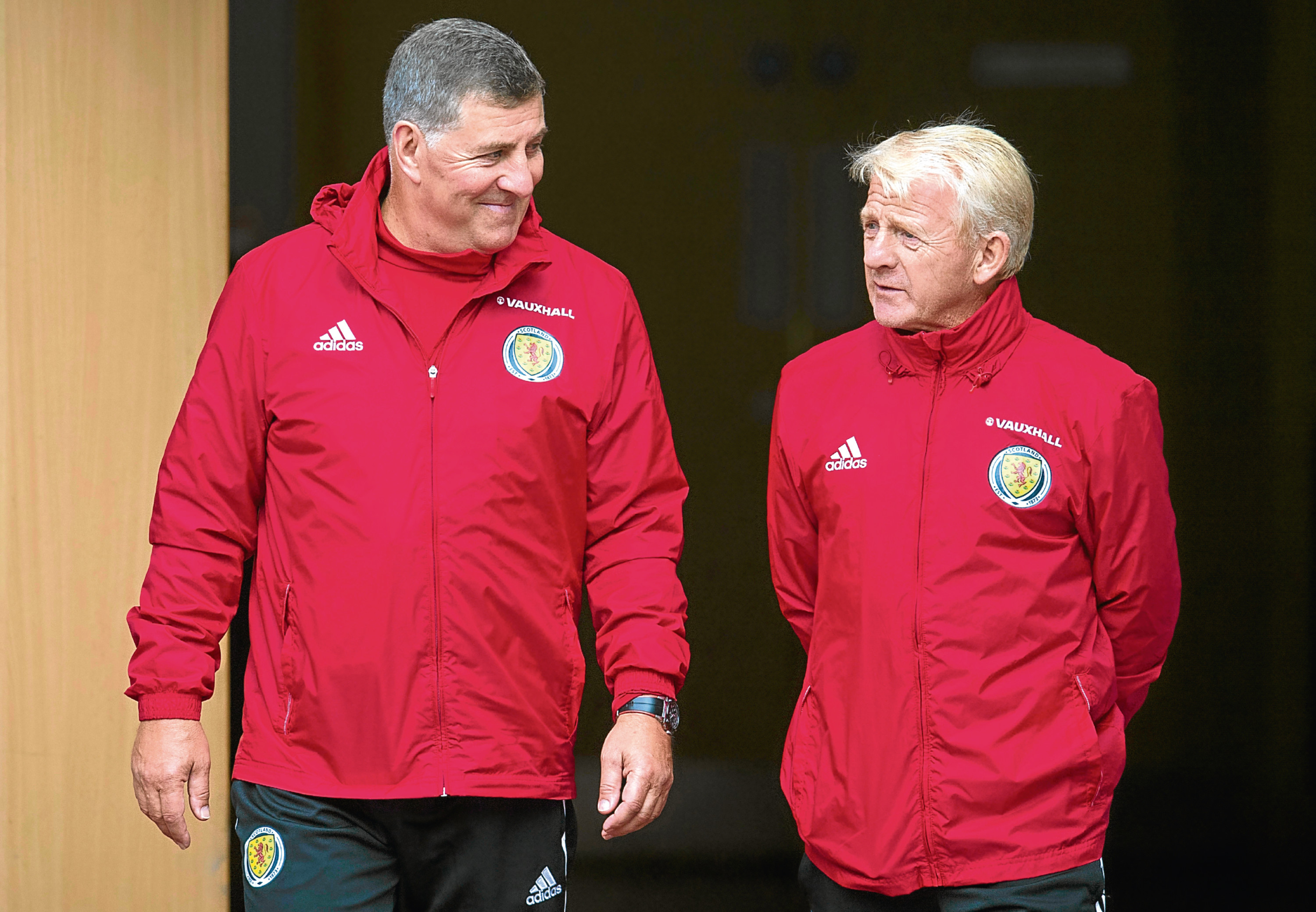 Scotland manager Gordon Strachan (right) with assistant manager Mark McGhee.