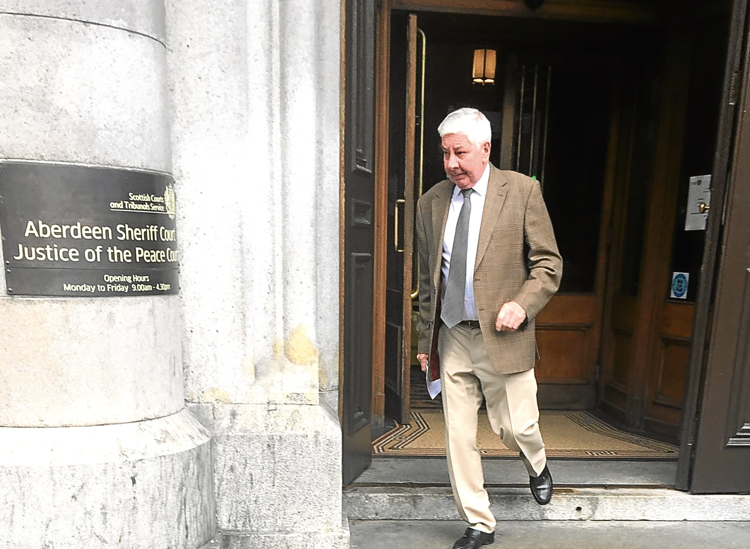 George Cheyne admitted the offence at Aberdeen Sheriff Court.