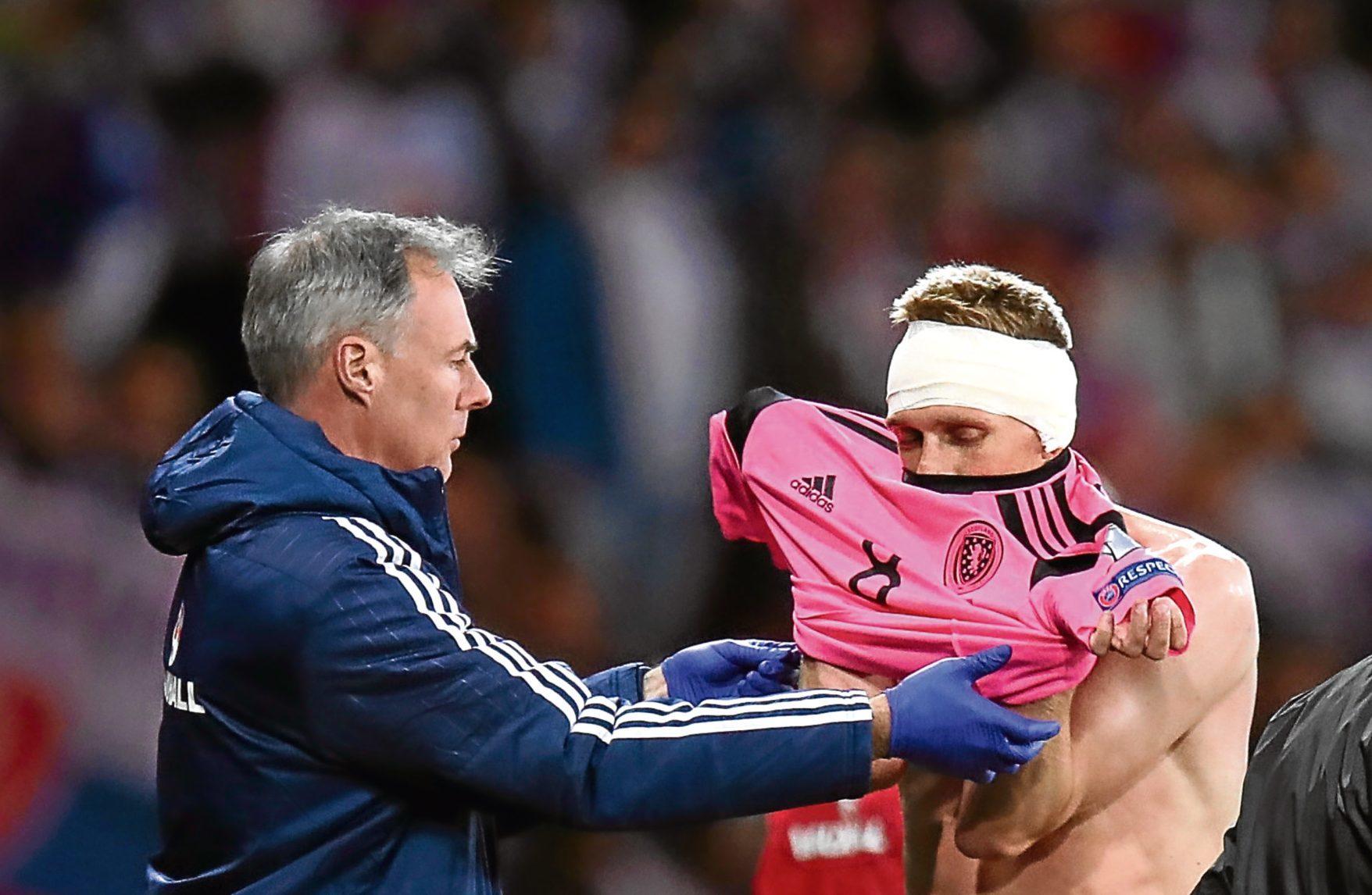 Darren Fletcher against Slovakia.