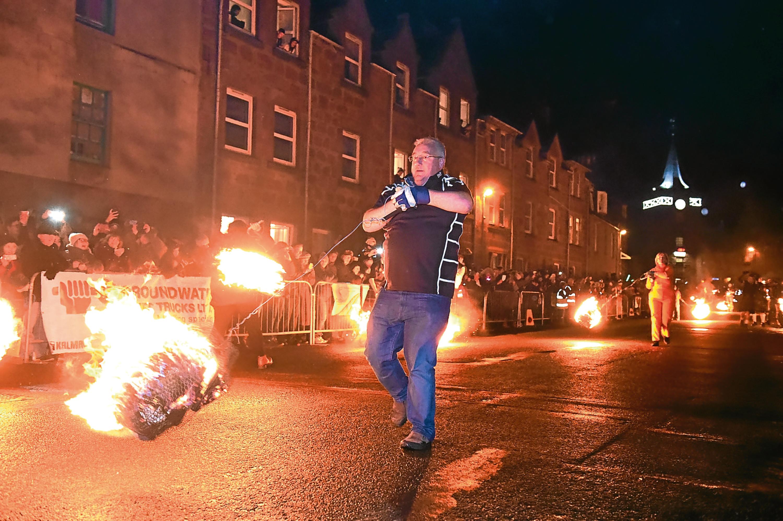 Last year's Stonehaven Hogmanay Fireballs event
