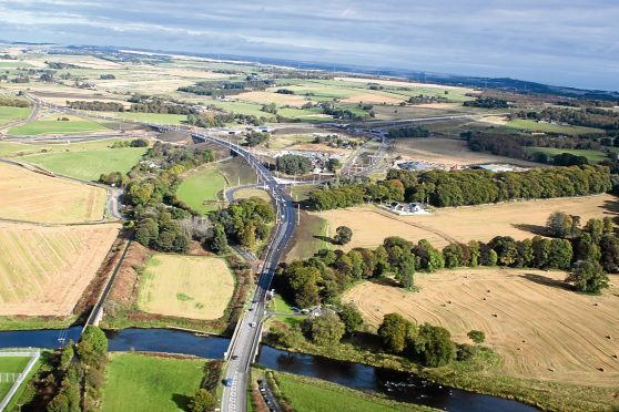 The newly-opened road avoids the Parkhill junction at Dyce. Picture by Martin Baxter/HJS Helicopters