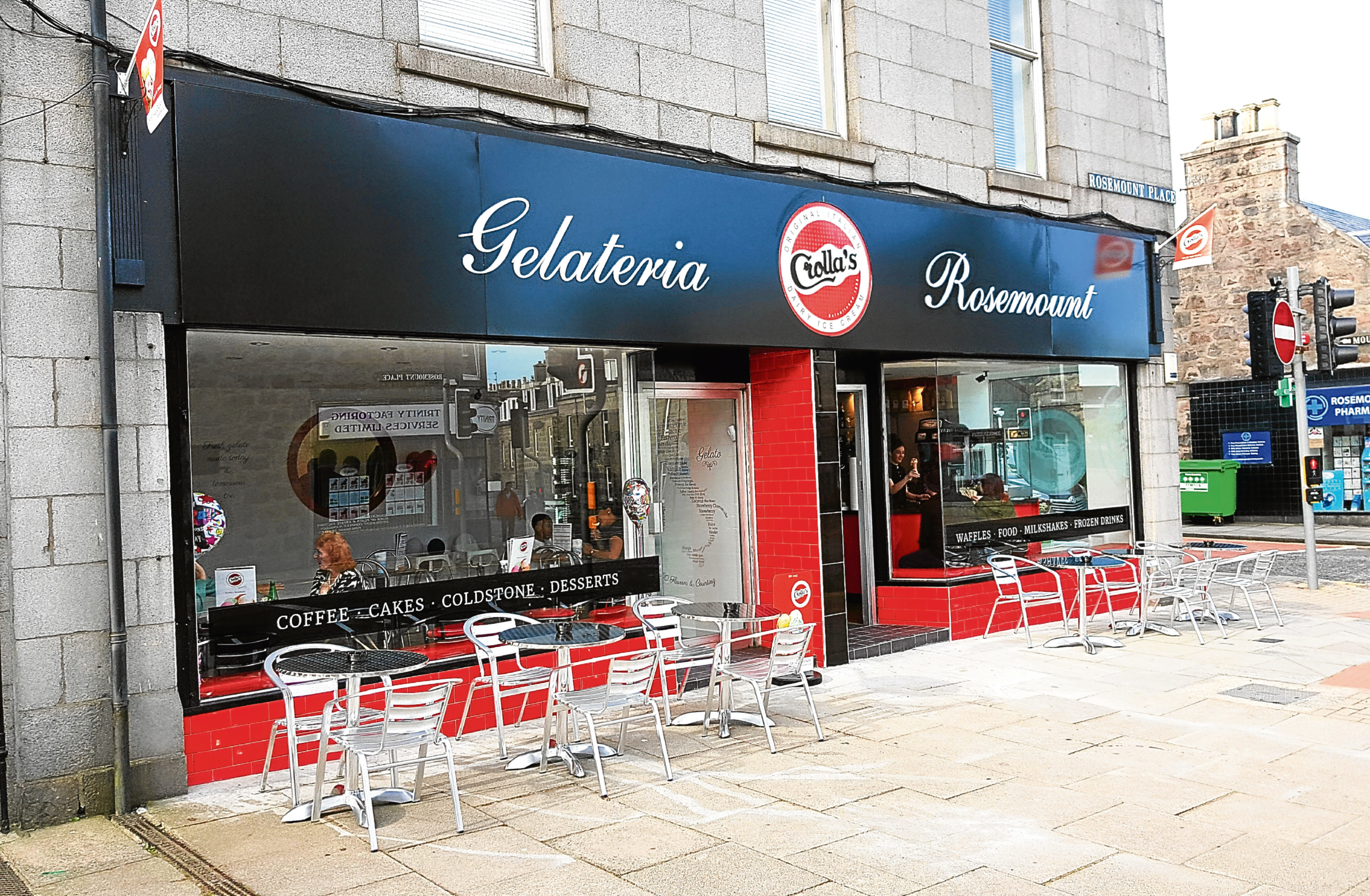 Crolla's Gelateria in Rosemount Place