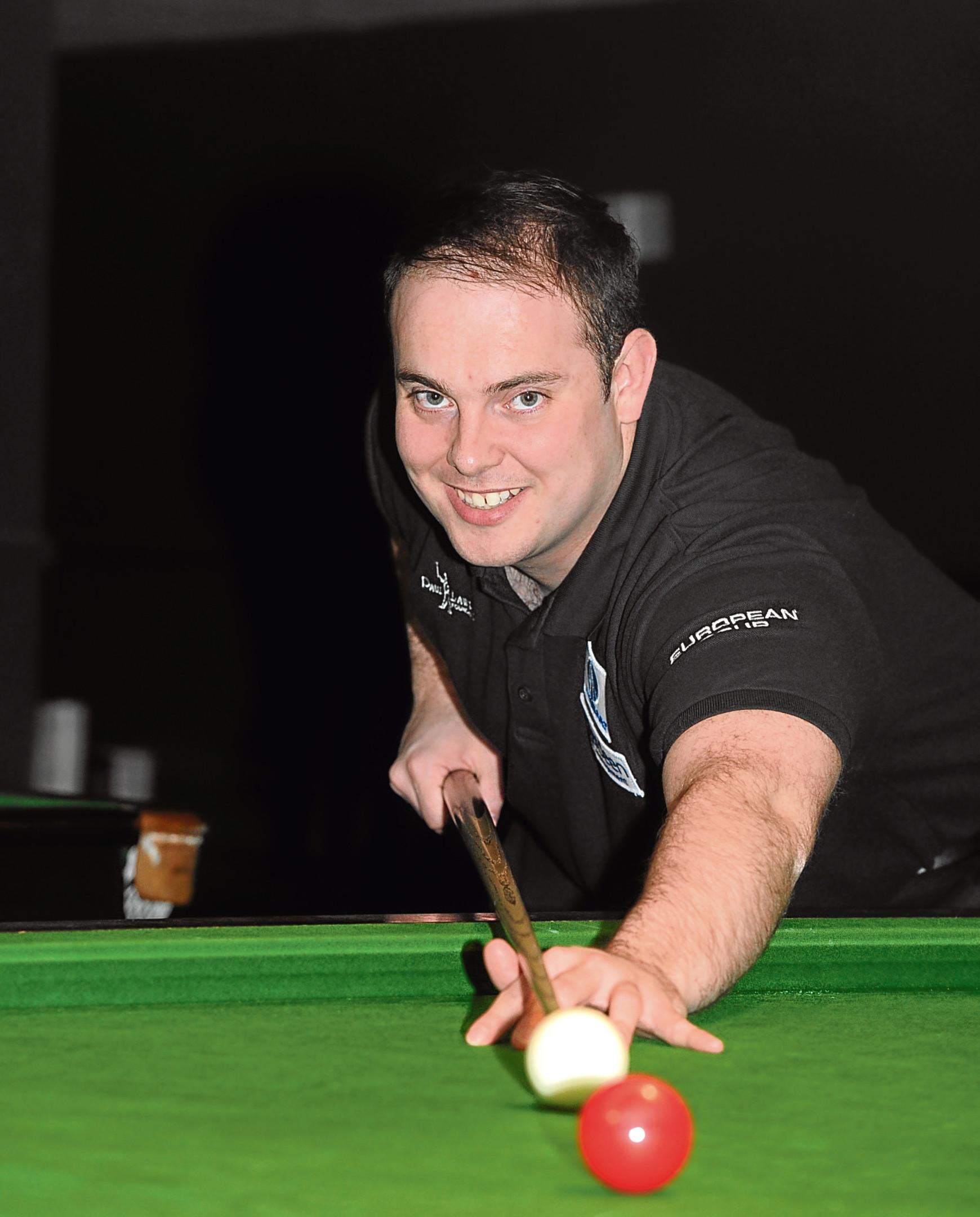 Aberdeen snooker player Marc Davis.