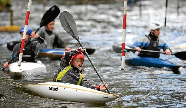 Kayak slalom at Seaton Park on the River Don.