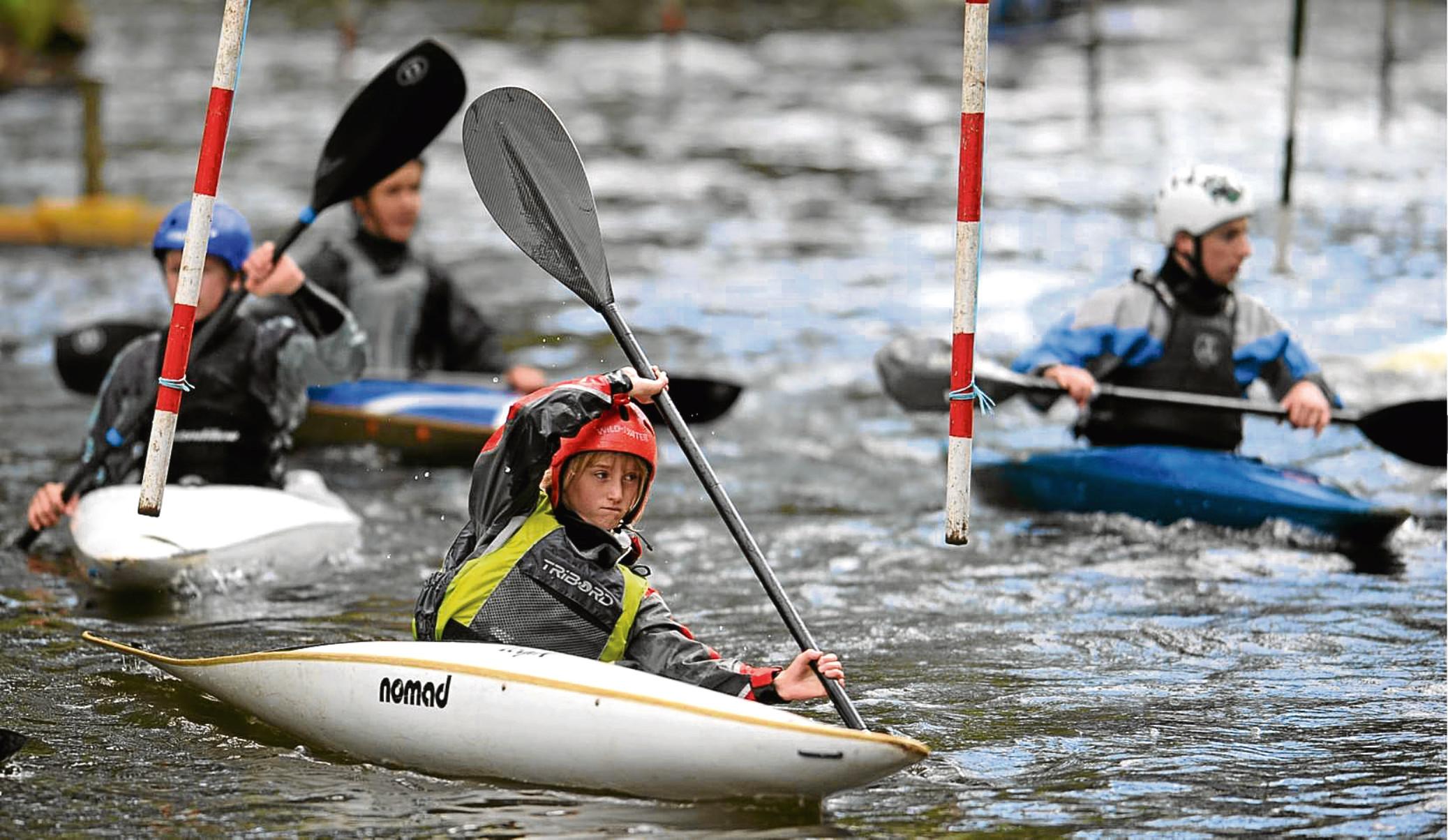 Kayak slalom at Seaton Park on the River Don.