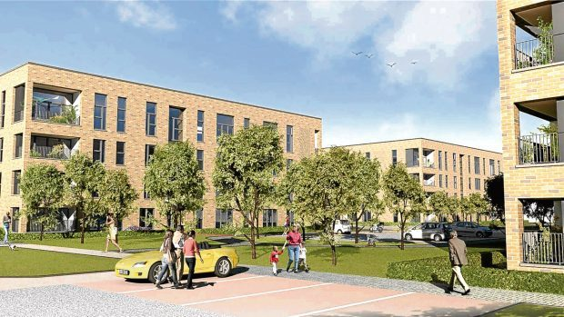 An artist's impression of how the homes could look.