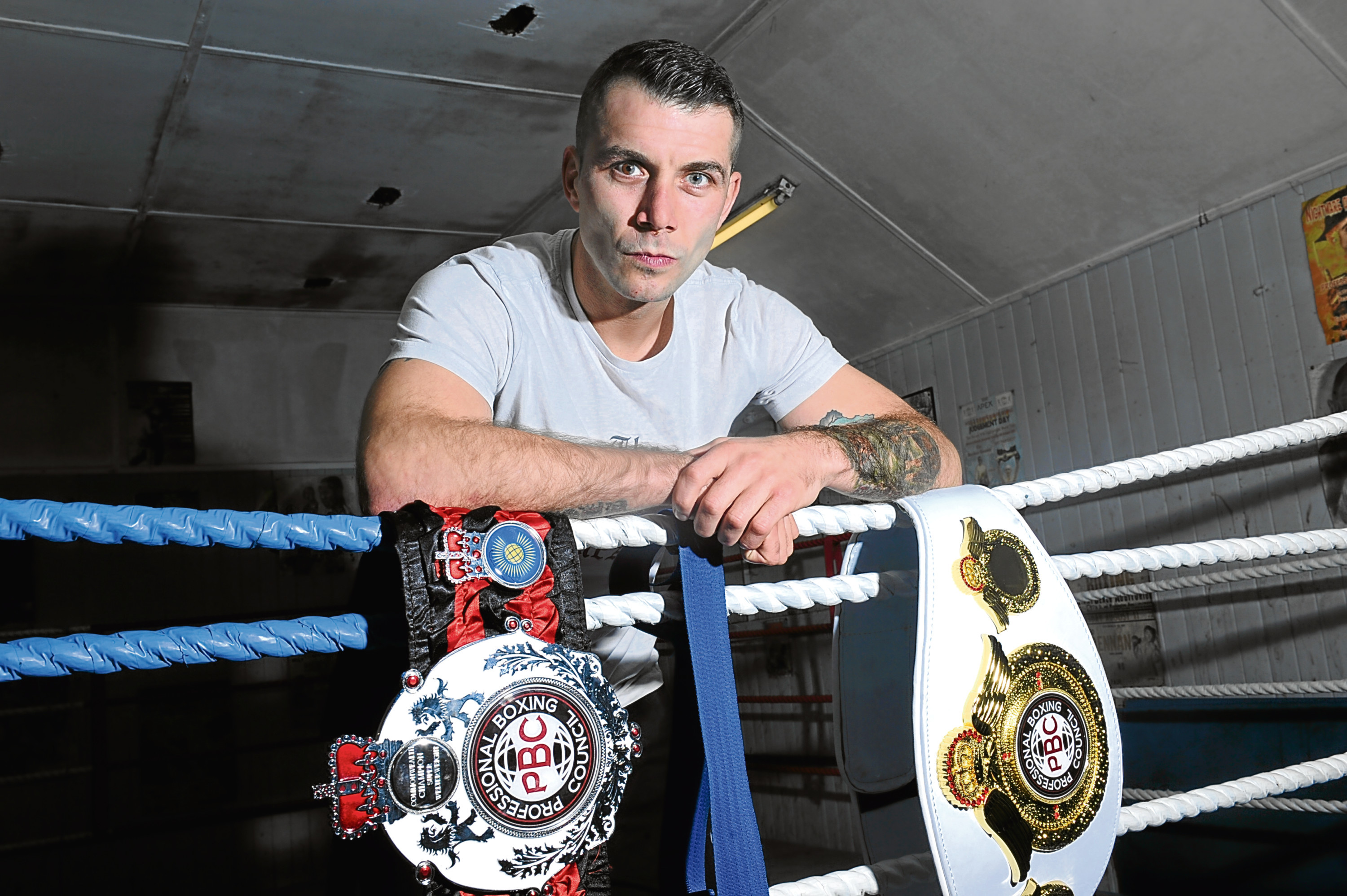 Lee McAllister ahead of his fight on Friday evening.