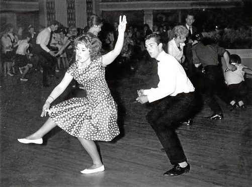 1962: Dancing the Twist during a contest at the Beach Ballroom
