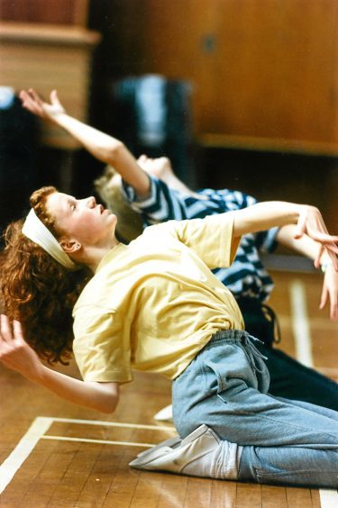 1993: Kirstyn, 14, and Kathryn Keith, 12, of Stonehaven, at the Summer School of Dance at Summerhill Education Centre, Aberdeen.