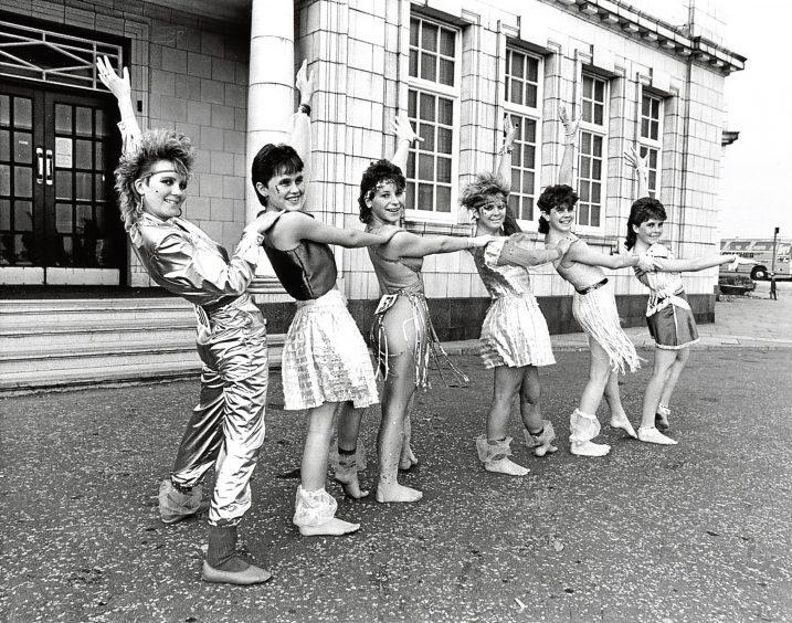 1985: Peterhead Community Centre Disco-dance team. From left, Debra Watson, Fiona Anderson, Angela Grieve, Nicola Fraser, Julie Cruickshank, Diane Cowie.