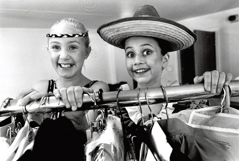 1990: Maree Paterson, left, and Ashley Sood at the annual Grampian Dance Festival.