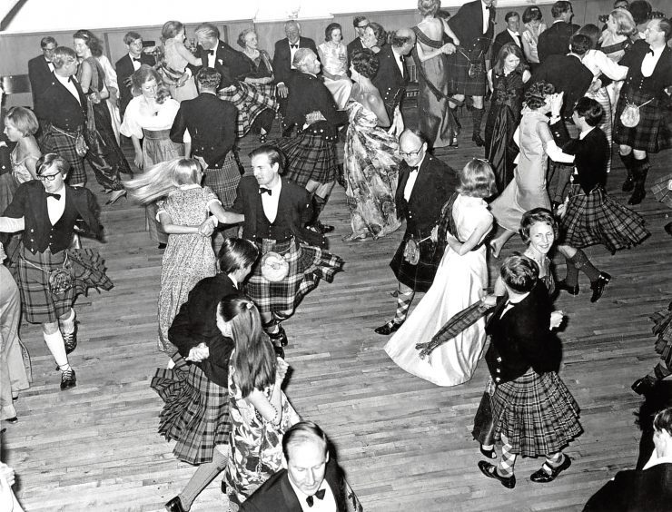 1968: Some of a company of more than 300 who took to the floor at the Donside Ball in Inverurie Town Hall.