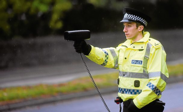 Police were carrying out speed tests on Westburn Road