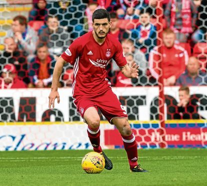 Anthony O'Connor in action for Aberdeen.