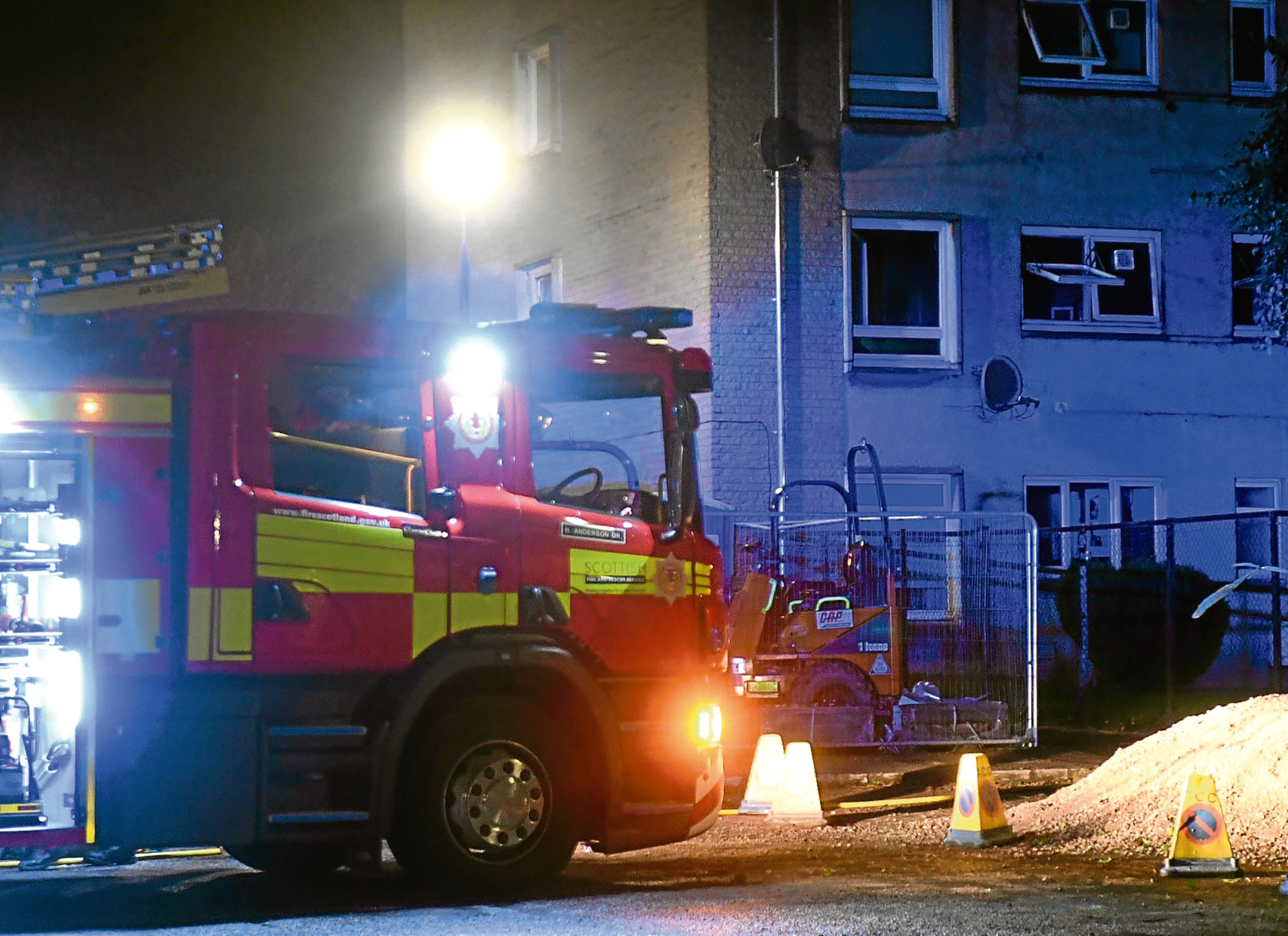A blaze broke out at Victoria Eighteen's home in Aberdeen's Shapinsay Square.