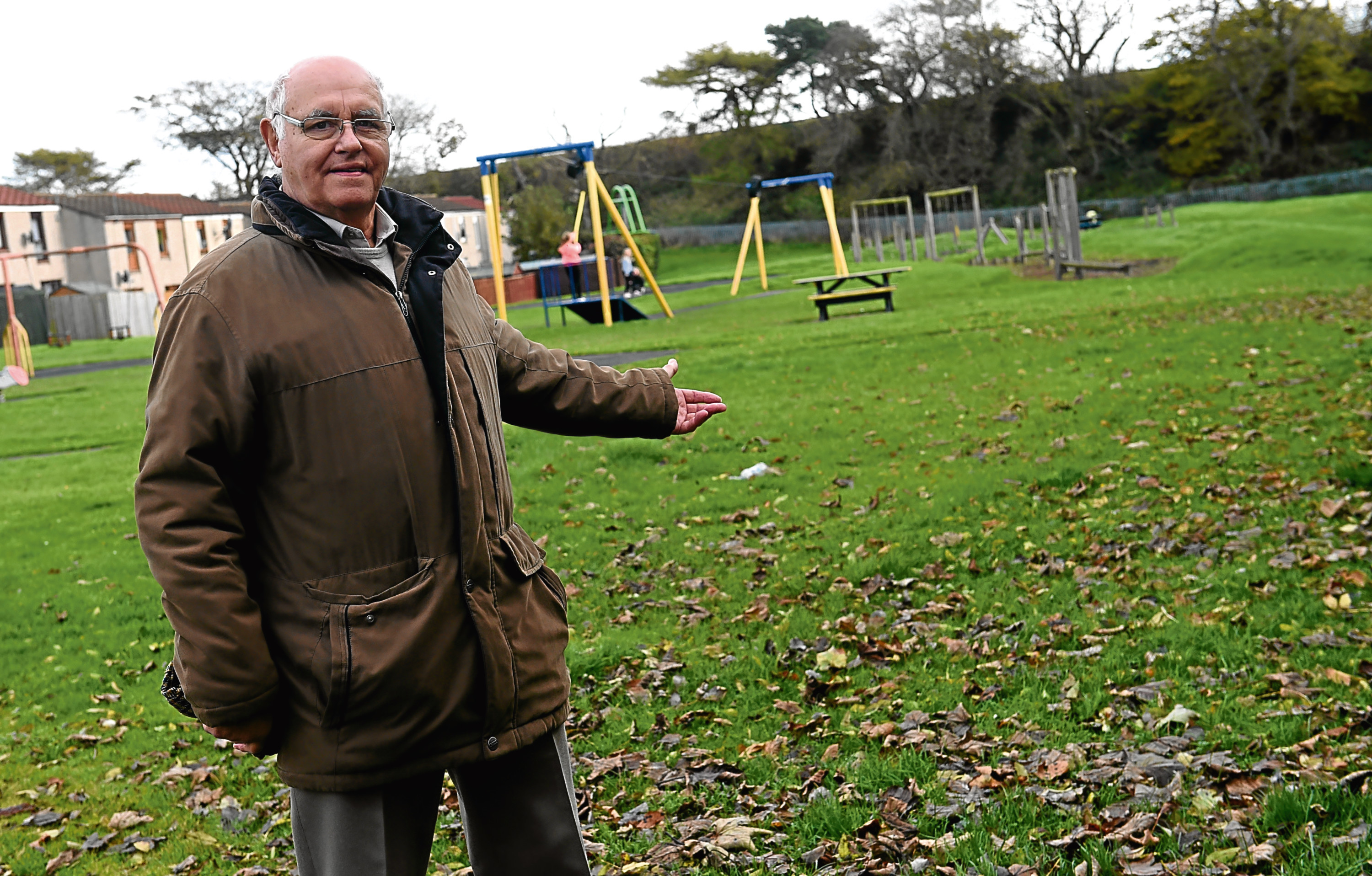 A community is planning to create a playground for pensioners in a Portlethen park in order to give older people the chance to socialise together while getting some light exercise.