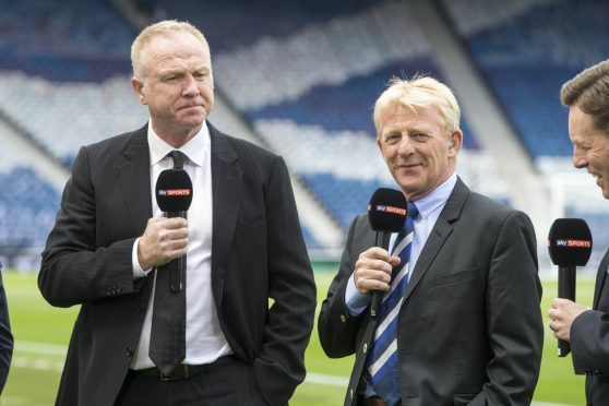McLeish, left, with departed manager Gordon Strachan.