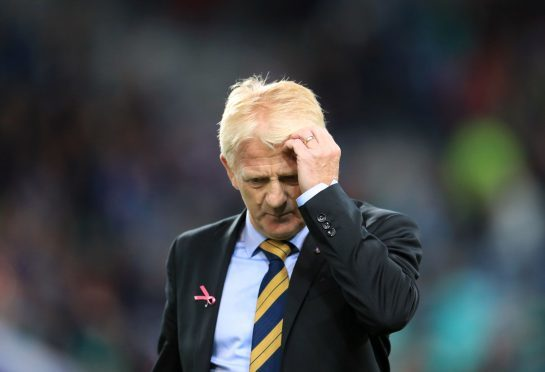 A dejected Strachan at full-time.