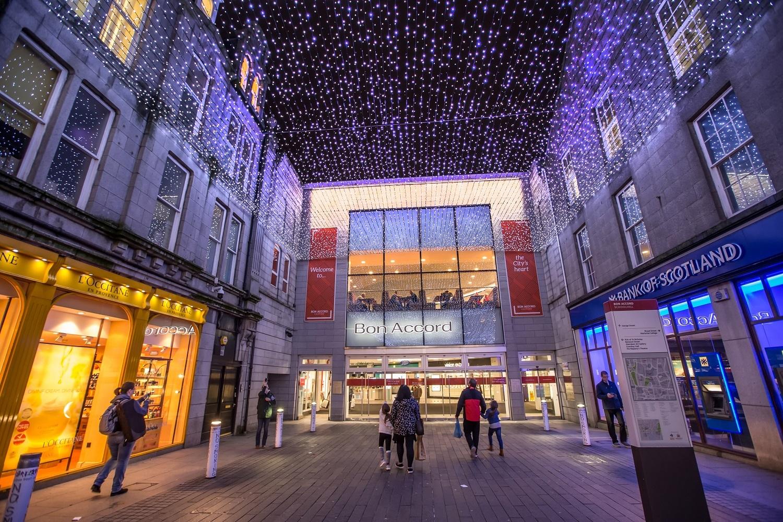 The new light display at Bon Accord, Aberdeen