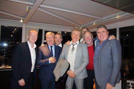 Sir Rod Stewart in The Silver Darling restaurant in Aberdeen