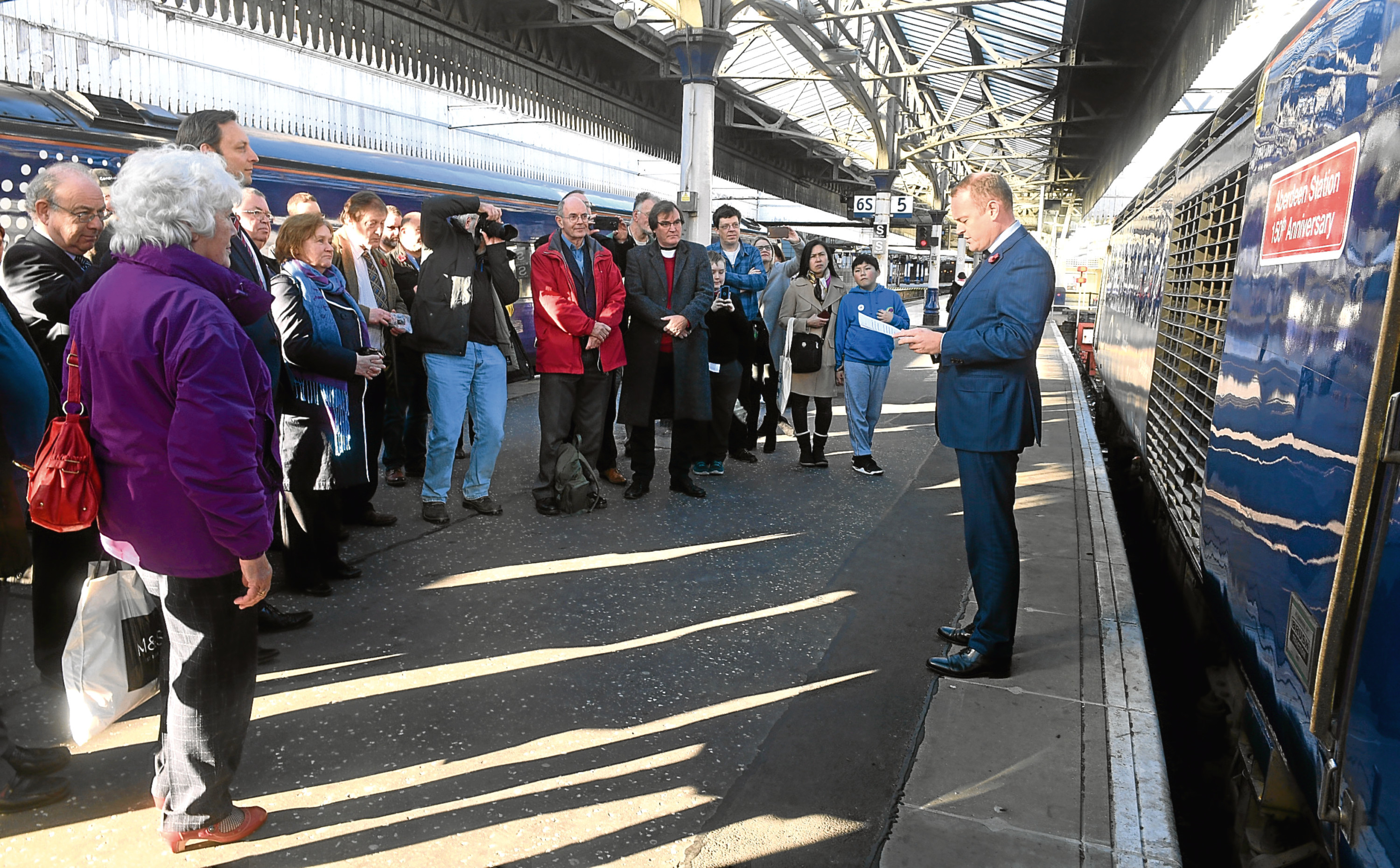 Aberdeen Railway Station celebrated it's 150th anniversary on Saturday.