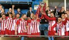 Formartine celebrate their Aberdeenshire Cup glory. Picture by Chris Sumner