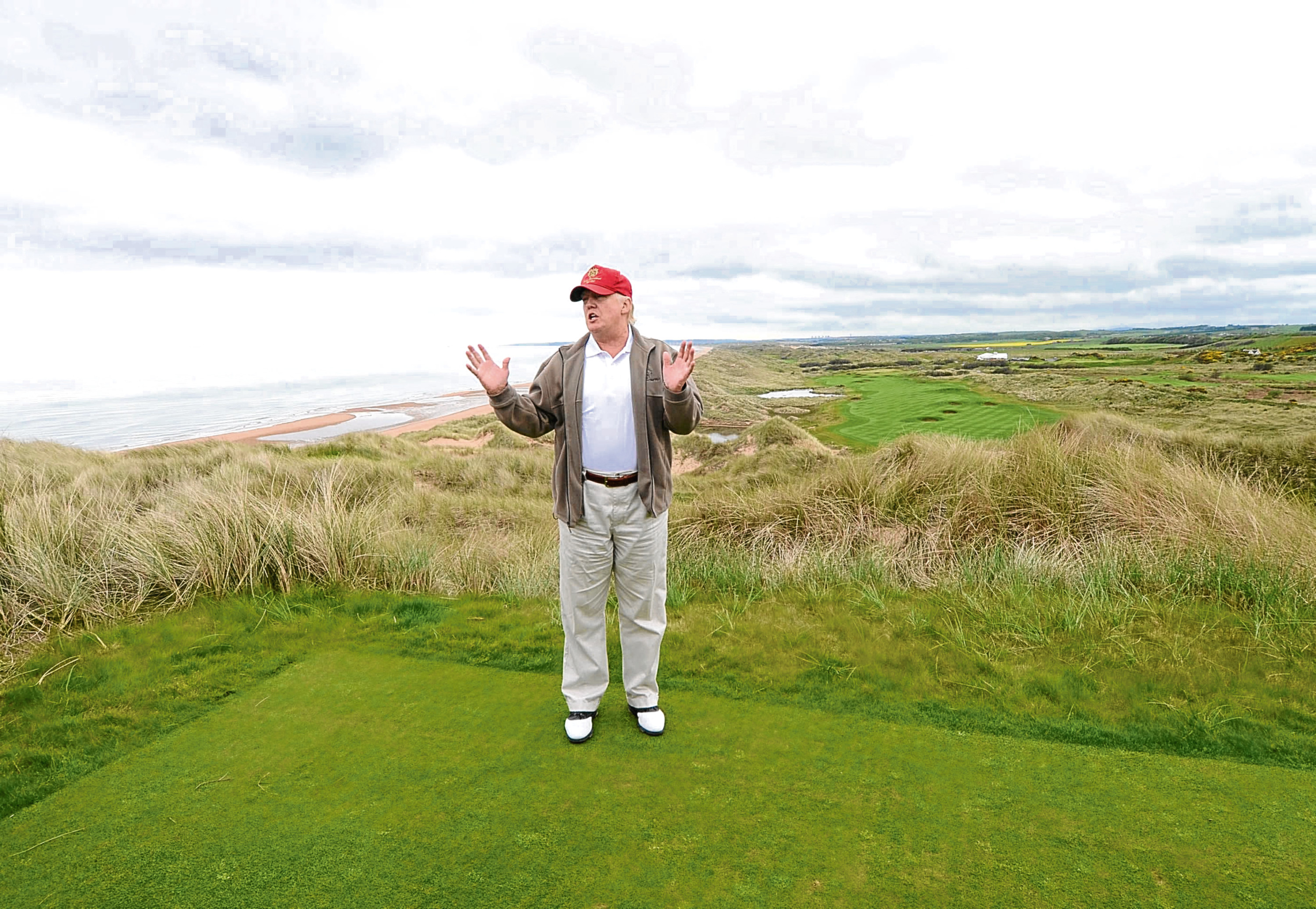 Donald Trump on his golf course in Balmedie