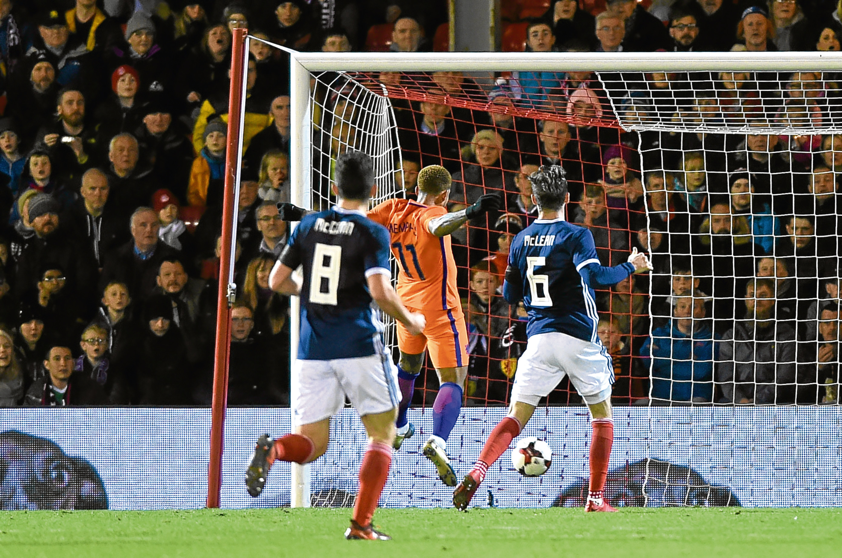 Scotland v Netherlands at Pittodrie Stadium