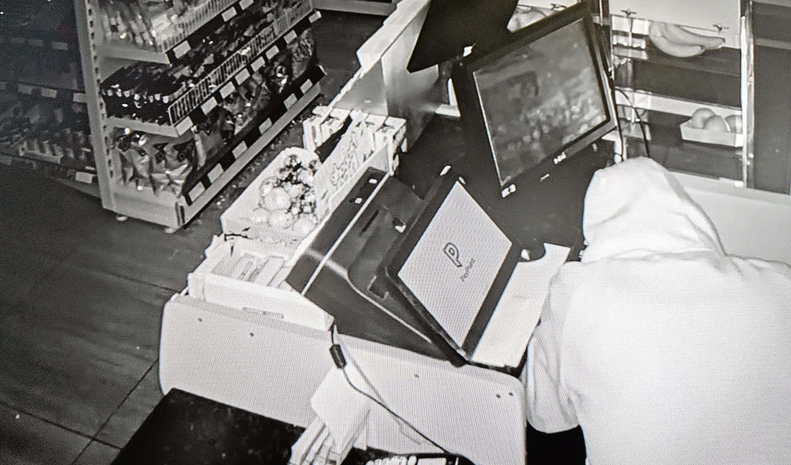 CCTV of the theft