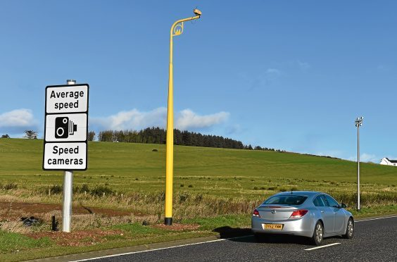 Average speed cameras on the A90 between Stonehaven and Dundee