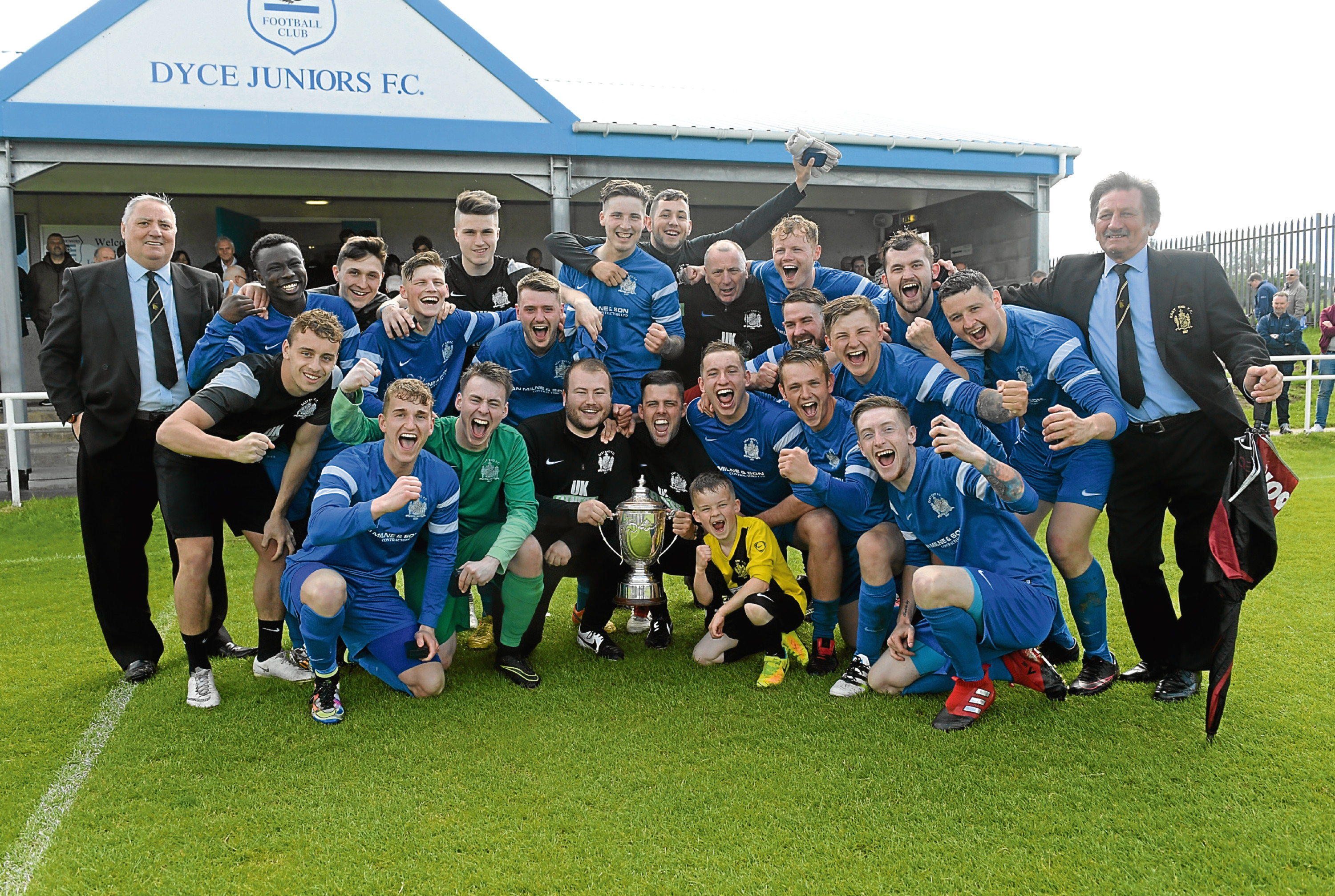 East End, pictured, have joined forces with Lewis United.