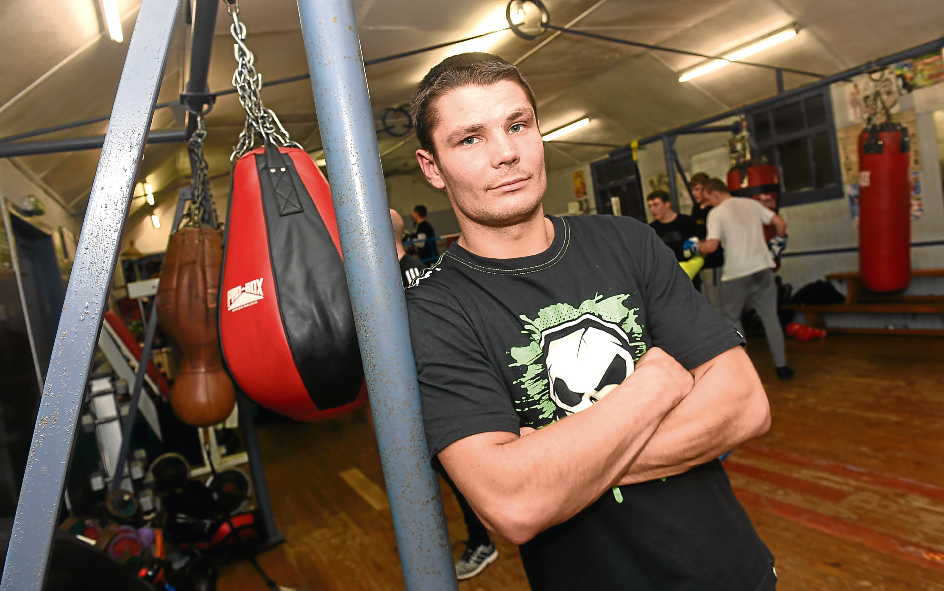 Marek Laskowski at Granite City Boxing Gym, Clifton Lane, Aberdeen. Picture by Heather Fowlie
