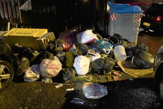 Fly-tipping and rubbish at the recycling centre on Greenfern Road. 20/11/17. Picture by KATH FLANNERY
