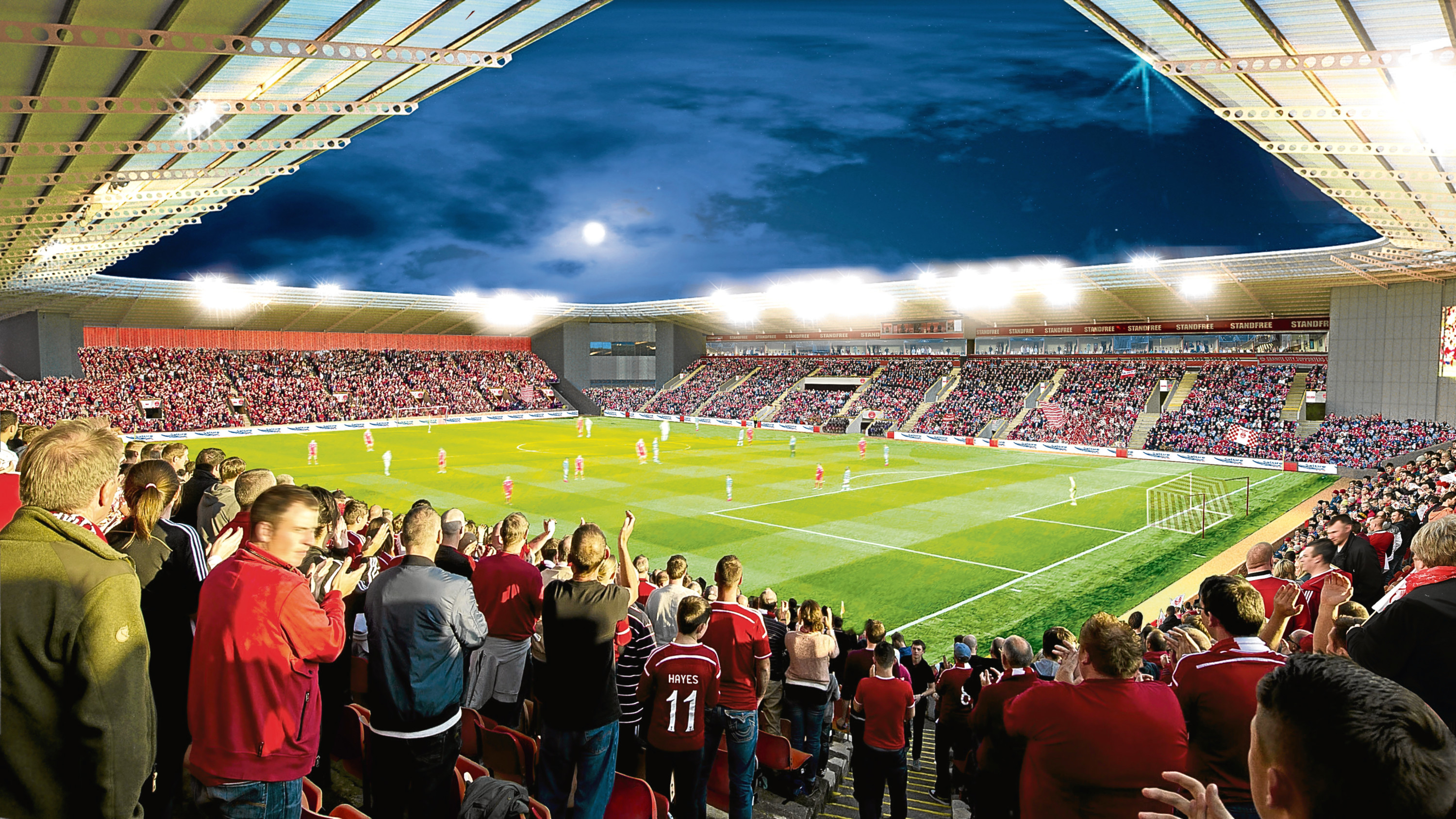 How the proposed stadium could look.