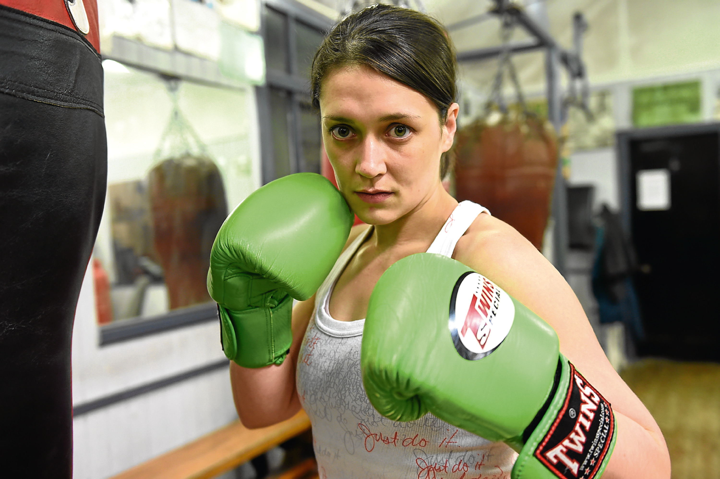 Pictured is Scotland's first female professional boxer Kristen Fraser. Picture by Darrell Benns